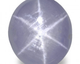 Sri Lanka Fancy Star Sapphire, 14.73 Carats, Soft Greyish Violet Oval