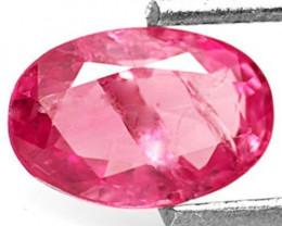 Burma Pink Sapphire, 1.04 Carats, Deep Pink Oval