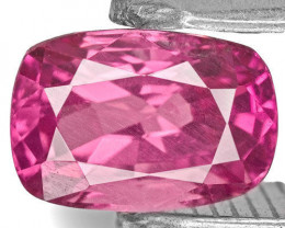 Sri Lanka Pink Sapphire, 0.69 Carats, Fiery Pink Cushion