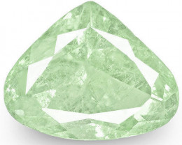 Colombia Emerald, 3.88 Carats, Light Bluish Green Pear