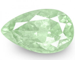 Colombia Emerald, 3.56 Carats, Lustrous Bluish Green Pear
