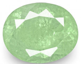 Colombia Emerald, 4.59 Carats, Light Bluish Green Oval