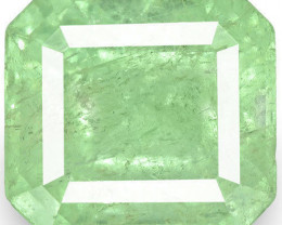 Colombia Emerald, 8.93 Carats, Lustrous Bluish Green Emerald Cut