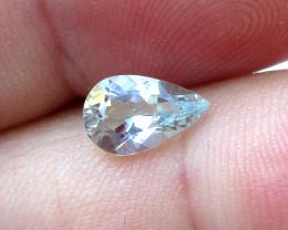 0.94cts Natural Aquamarine Pear Shape