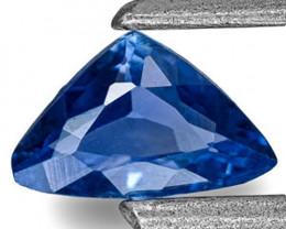 Madagascar Blue Sapphire, 0.24 Carats, Cornflower Blue Trilliant