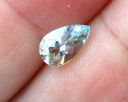 1.23cts Natural Aquamarine Pear Shape