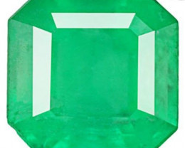Colombia Emerald, 1.78 Carats, Vivid Green Emerald Cut