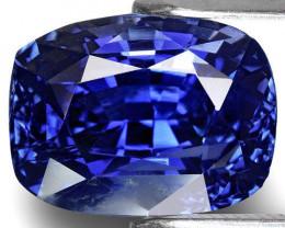 GIA Certified Kashmir Blue Sapphire, 4.00 Carats, Fiery Vivid Royal Blue