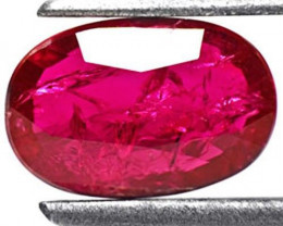 Mozambique Ruby, 1.70 Carats, Red Oval