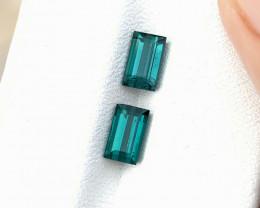 1.80 Ct Natural Blueish Transparent Tourmaline Gemstones Pairs