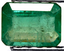 Zambia Emerald, 0.91 Carats, Grass Green Emerald Cut