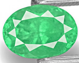 Colombia Emerald, 1.56 Carats, Lustrous Green Oval