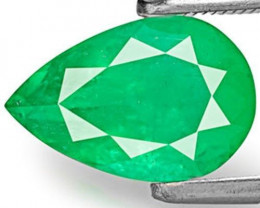 Colombia Emerald, 2.28 Carats, Bluish Green Pear