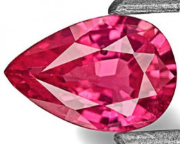 IGI Certified Mozambique Ruby, 0.49 Carats, Vivid Pinkish Red Pear