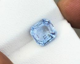 1.95 Ct Natural Blueish Transparent Aquamarine Gemstone