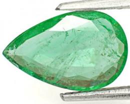 Zambia Emerald, 1.72 Carats, Intense Green Pear