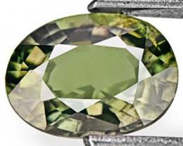 IGI Certified Madagascar Fancy Sapphire, 1.12 Carats, Lustrous Dark Green