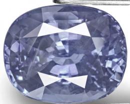 GIA Certified Sri Lanka Blue Sapphire, 8.65 Carats, Intense Blue Cushion