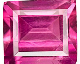 Madagascar Pink Sapphire, 0.42 Carats, Hot Pink Rectangular