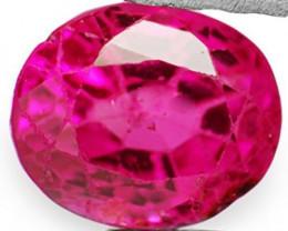 IGI Certified Burma Ruby, 0.76 Carats, Fiery Pinkish Red Oval