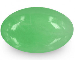 Colombia Emerald, 9.49 Carats, Pastel Green Oval