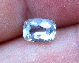 0.84cts Natural Aquamarine Cushion Shape