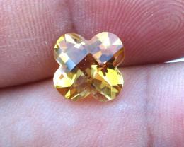 2.85cts Golden Yellow Citrine Flower Checker Board Shape