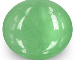 Colombia Emerald, 13.33 Carats, Medium Green Oval