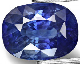 GIA Certified Madagascar Blue Sapphire, 6.80 Carats, Cushion