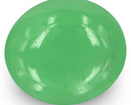 Colombia Emerald, 6.57 Carats, Lively Green Oval