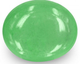 Colombia Emerald, 5.43 Carats, Lively Green Oval