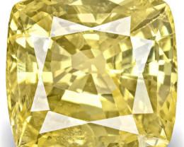 IGI Certified Sri Lanka Yellow Sapphire, 8.11 Carats, Intense Yellow