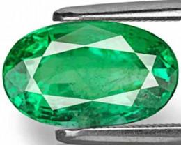 Zambia Emerald, 3.09 Carats, Deep Velvet Green Oval