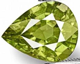 AIGS Certified Tanzania Fancy Sapphire, 3.12 Carats, Bright Yellowish Green