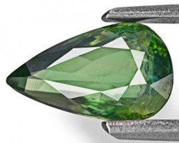IGI Certified Madagascar Fancy Sapphire, 1.46 Carats, Dark Green Pear