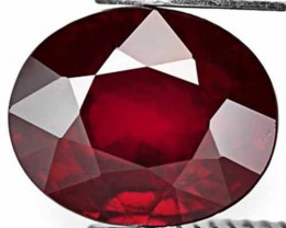 Mozambique Ruby, 1.03 Carats, Dark Red Oval