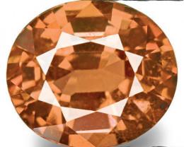 IGI Certified Sri Lanka Padparadscha Sapphire, 0.64 Carats, Fiery Orange