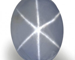 Sri Lanka Blue Star Sapphire, 6.72 Carats, Light Blue Oval