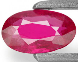 Mozambique Ruby, 0.42 Carats, Pink Red Oval