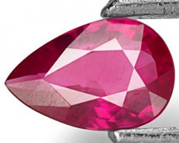 Mozambique Ruby, 0.40 Carats, Bright Pinkish Red Pear