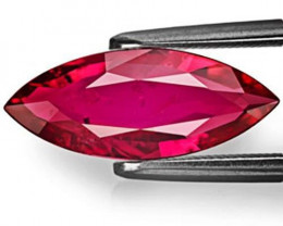 Mozambique Ruby, 2.09 Carats, Intense Red Marquise