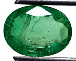 Zambia Emerald, 1.26 Carats, Lustrous Grass Green Oval