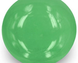 Colombia Emerald, 5.36 Carats, Lively Green Round