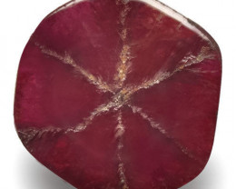 Burma Trapiche Ruby, 1.62 Carats, Deep Red Hexagonal