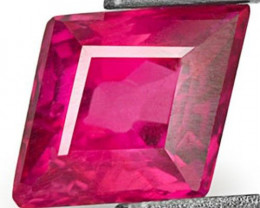 Mozambique Ruby, 0.55 Carats, Deep Pinkish Red Fancy Cut