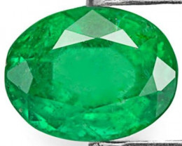 Brazil Emerald, 1.36 Carats, Royal Green Oval