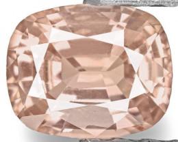 IGI Certified Sri Lanka Padparadscha Sapphire, 0.78 Carats, Cushion