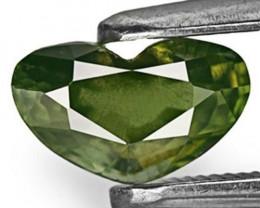 IGI Certified Madagascar Fancy Sapphire, 1.05 Carats, Dark Green Heart