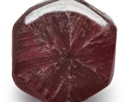 Burma Trapiche Ruby, 1.50 Carats, Dark Red Hexagonal