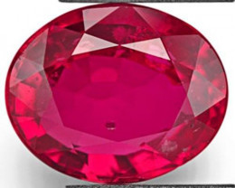 GIA Certified Mozambique Ruby, 2.04 Carats, Neon Pinkish Red Oval